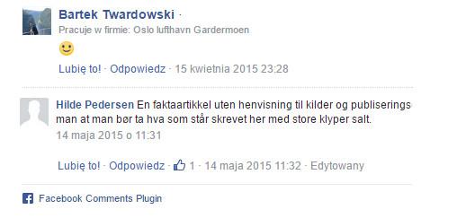 komentarze norwegow o polkakach